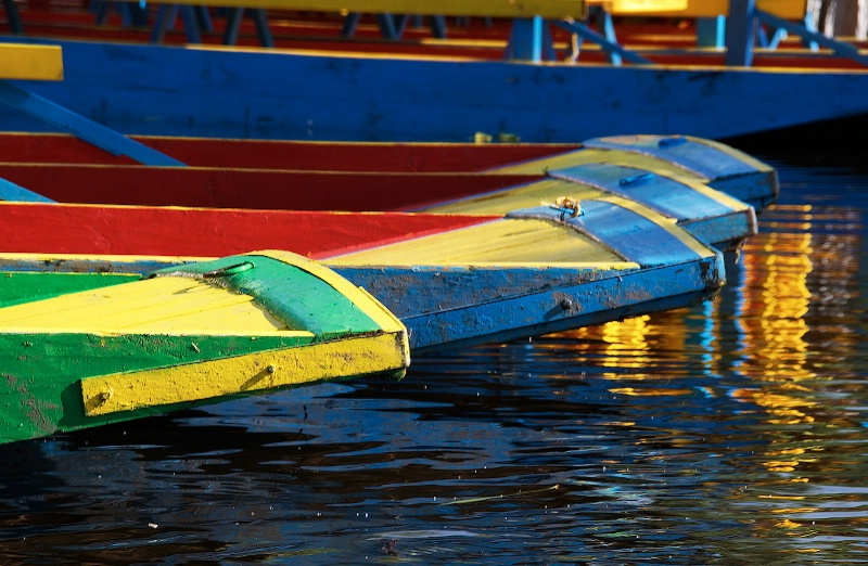 Colorfull Barges in Xochimilco