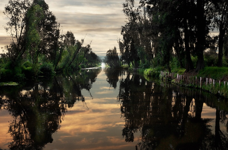 Sunrise in Xochimilco