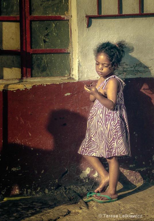 A girl in Havana