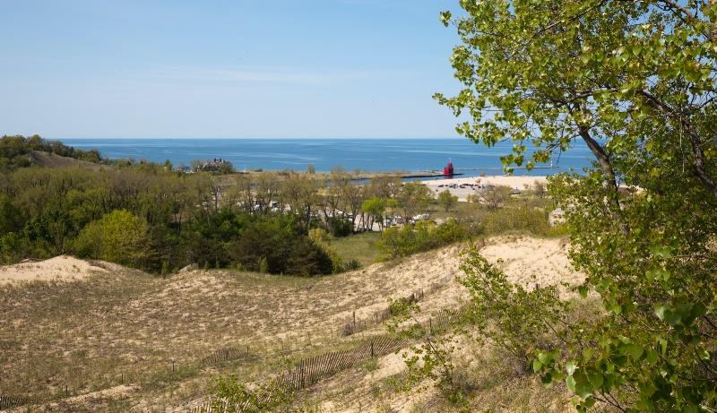 View from Mt. Pisgah at Ottawa Beach Park
