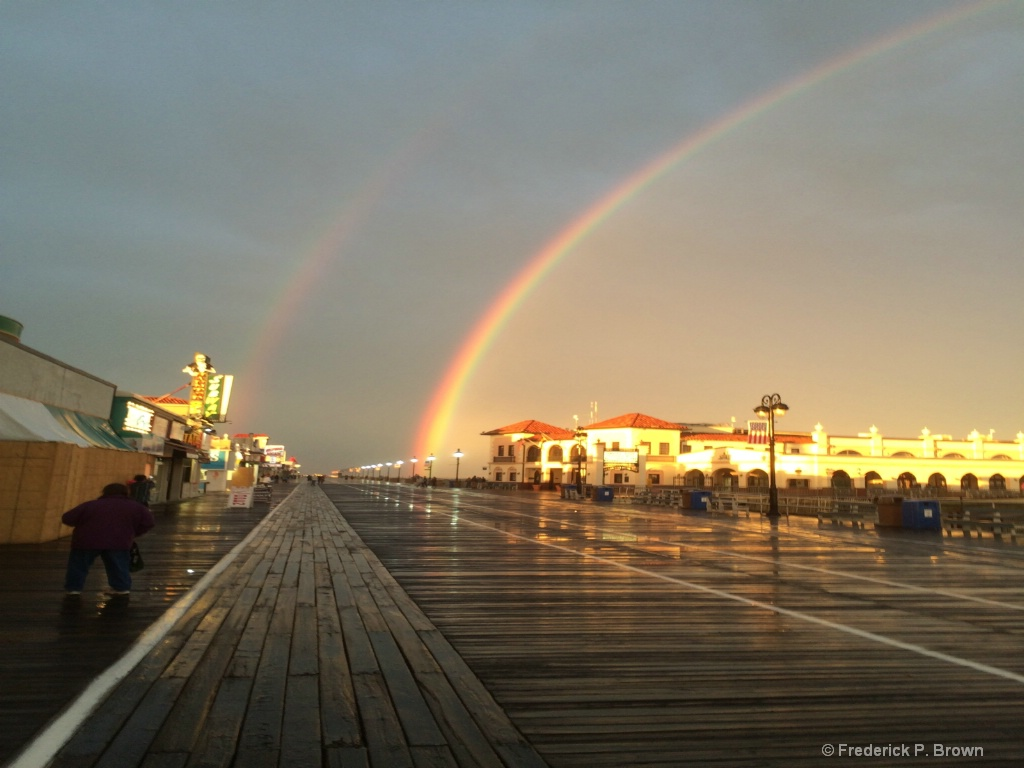 Ocean City NJ Double Rainbow-1