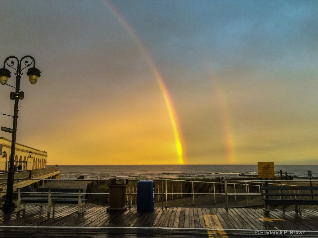 Ocean City NJ Rainbows over the ocean-1-2