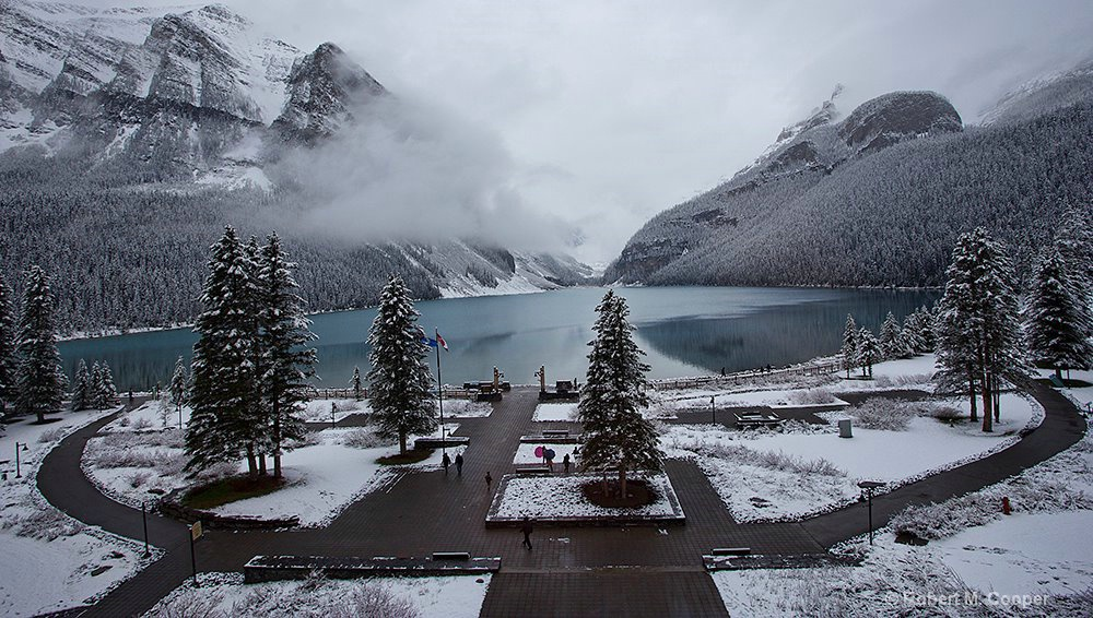 View from hotel room - Lake Louise