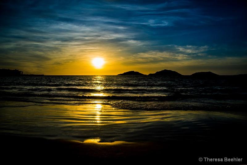 The Three Islands of Mazatlan at sunset