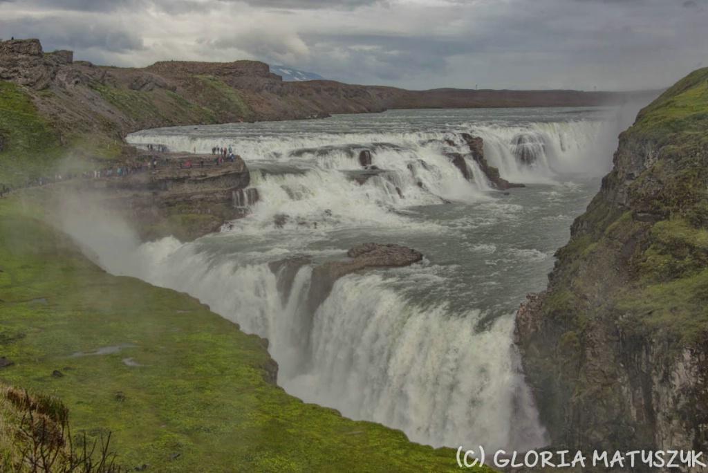 Gulfoss - very large waterfall
