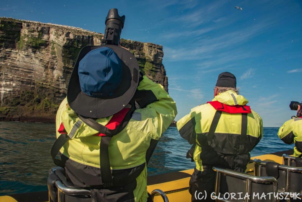 On our boat in survival suits  Vestamannaeyjar