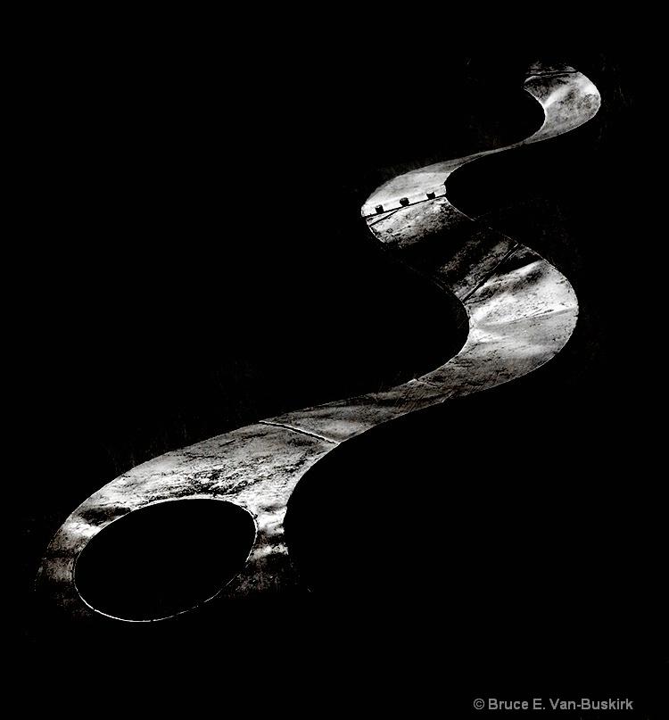 part of a metal sculpture.