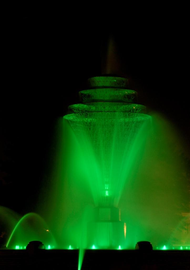 Fountain in green