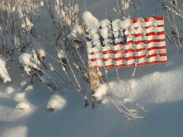 Snow flag