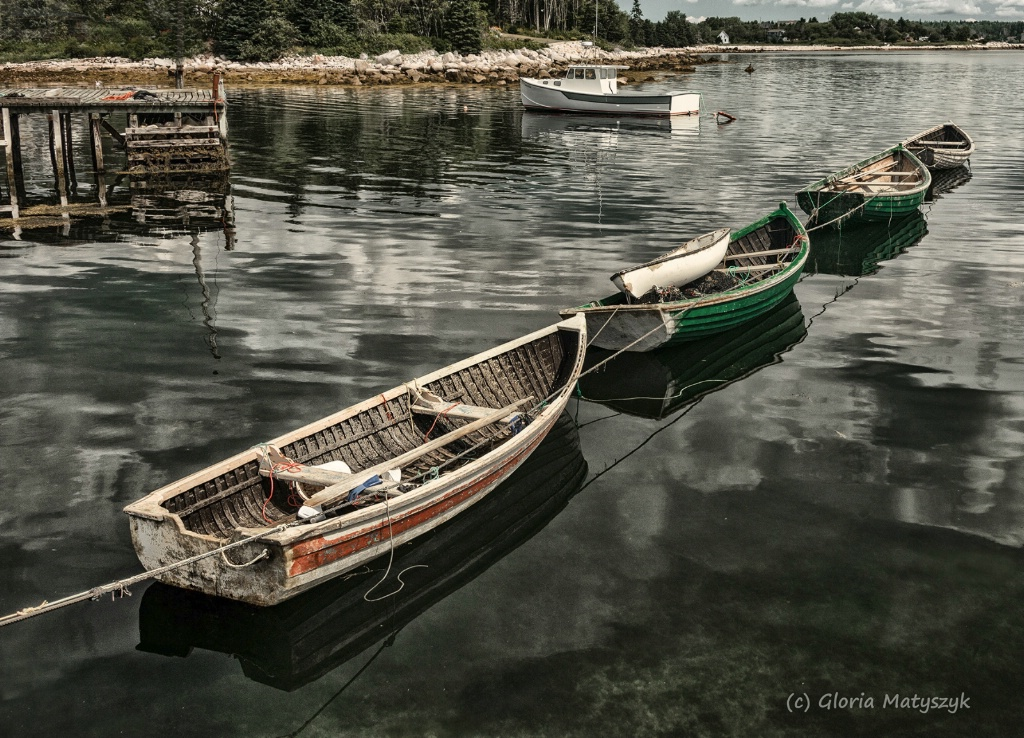 Dories in southern Nova Scotia, Canada