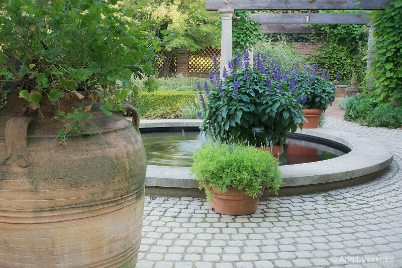 Pots By the Fountain