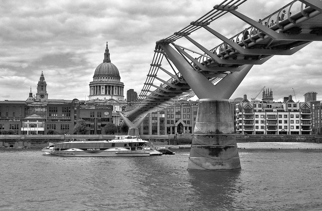Monochromic Millenium Bridge London
