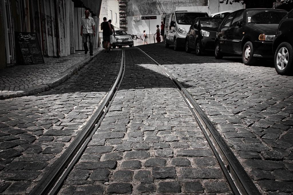 Lisbon train rails