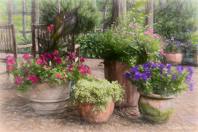 Painterly Garden Pots