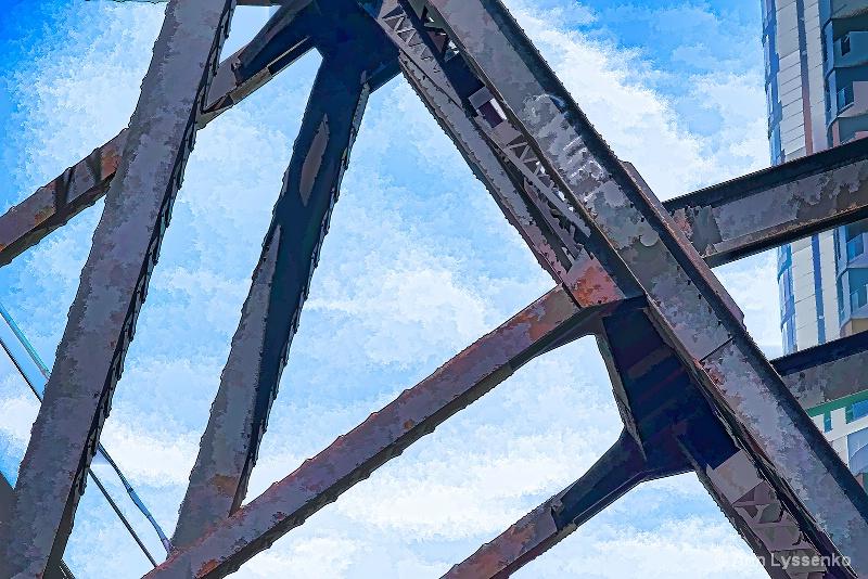 Going Under the Old Train Bridge