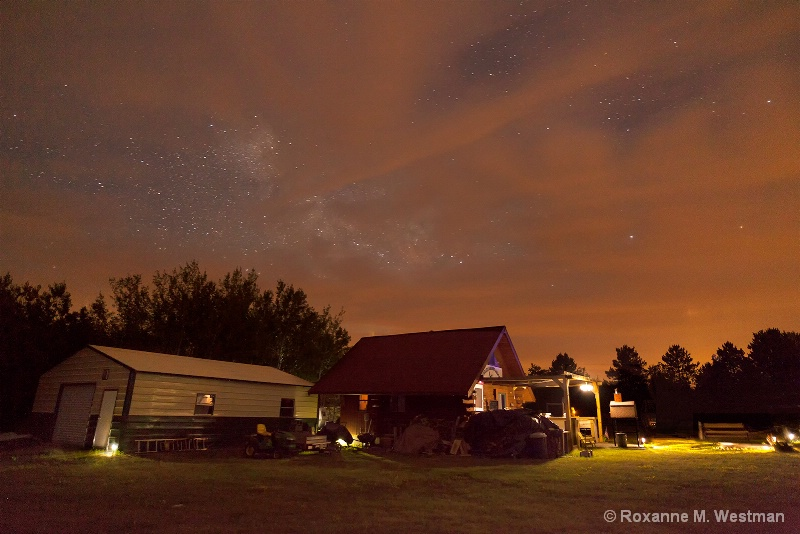 Glimpse of Milky Way at the campground