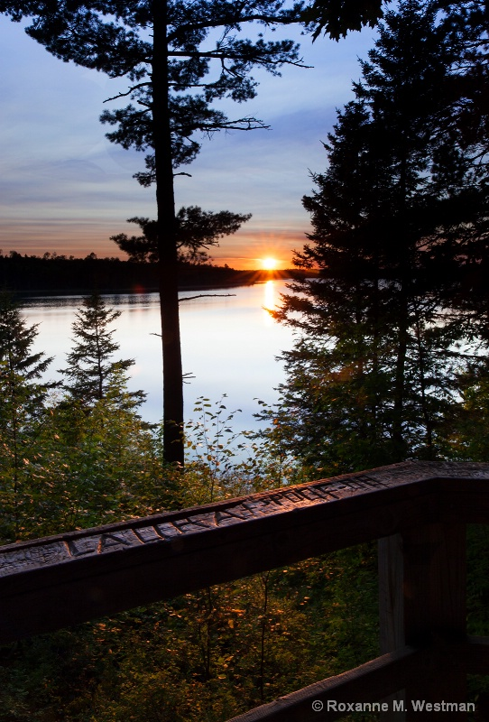 Sunset at Lake Itasca