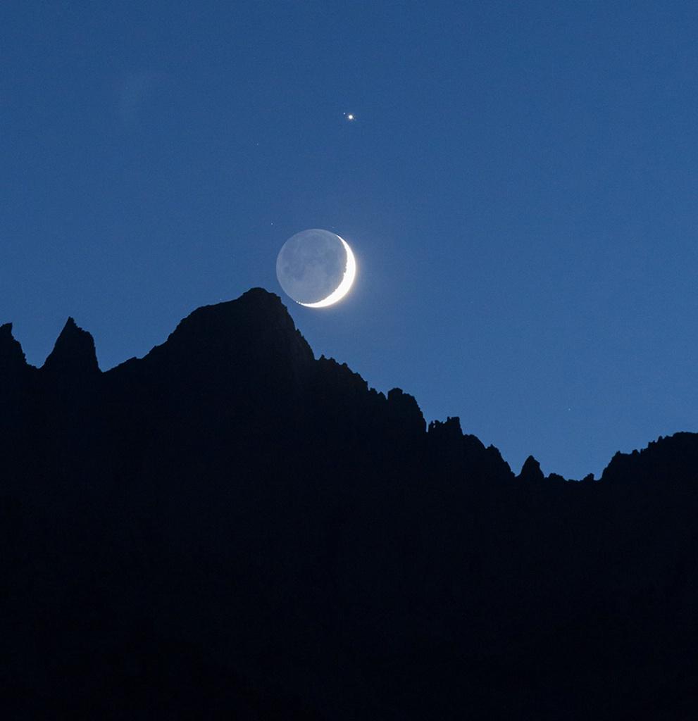 Moon Conjunct Jupiter Over Whitney