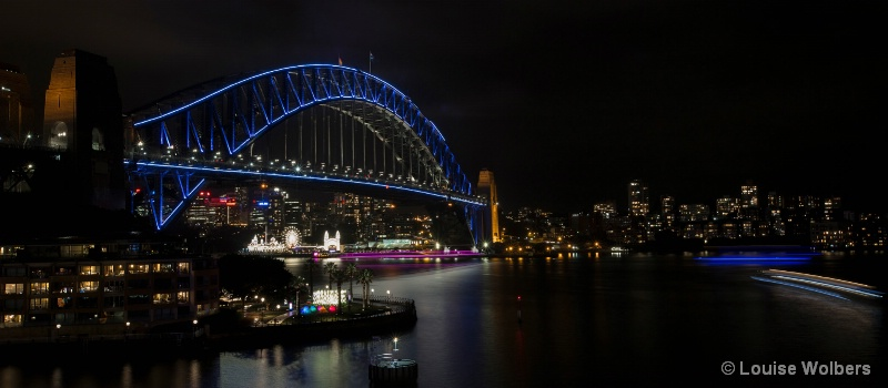 Vivid Harbour Bridge
