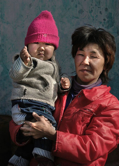Russian Mother and Child