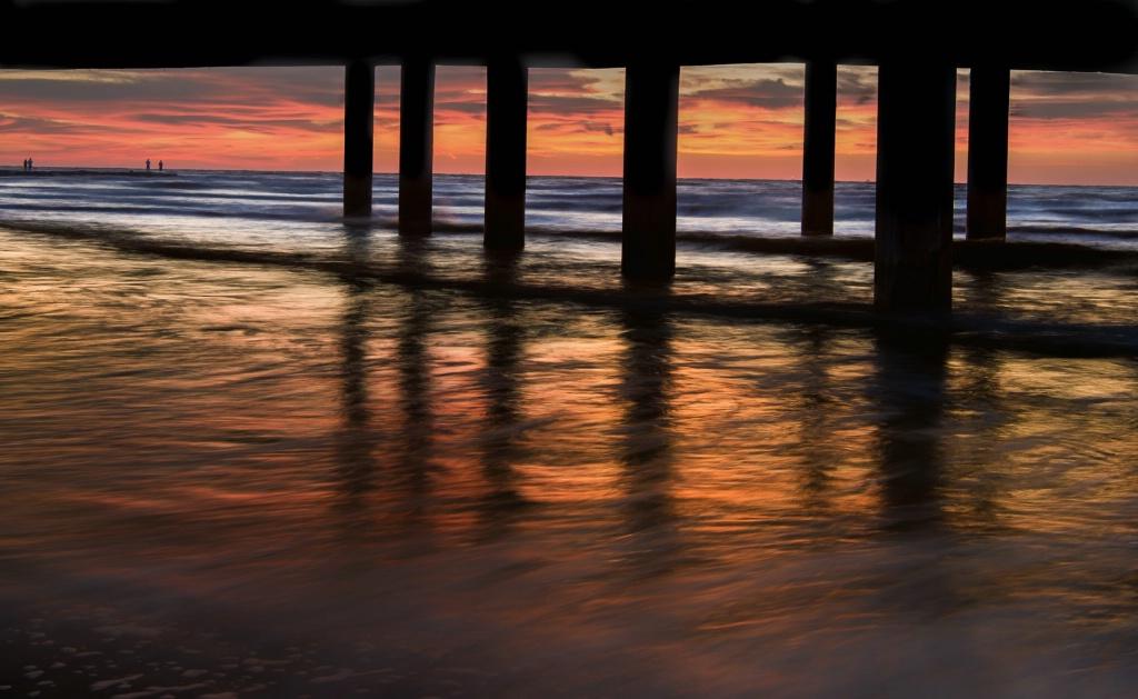 Galveston, Beach at Seawall and 23rd Street