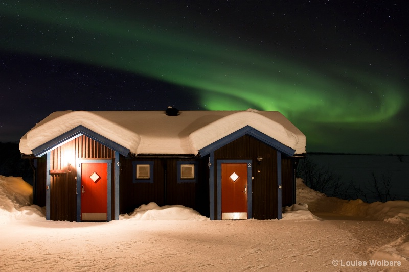 Aurora Over Cabin