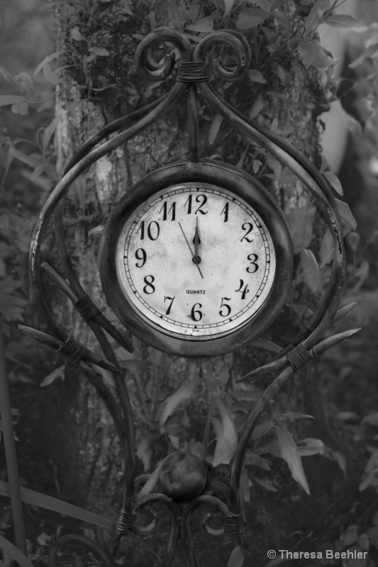 Time Stops (B&W)