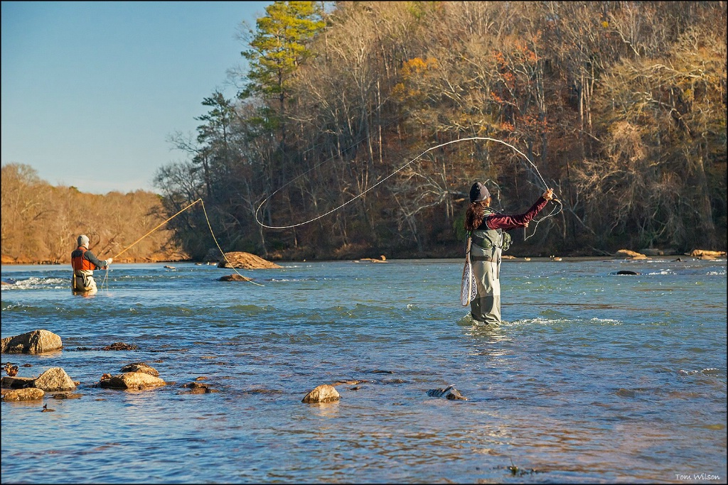 Fall Fishing on the Chattahoochee River