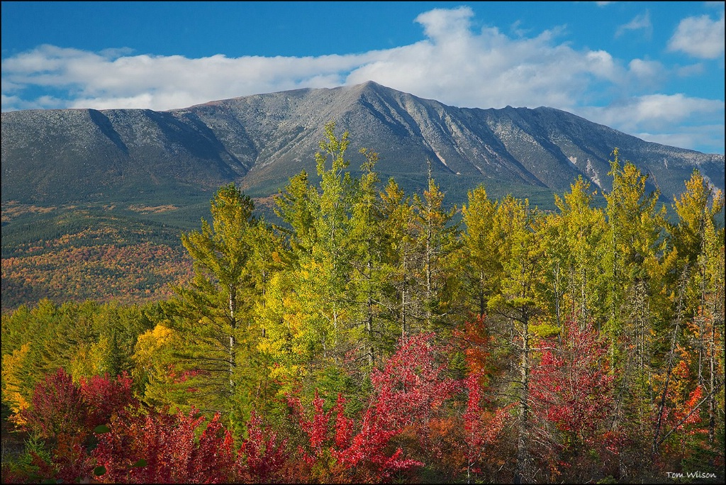 Mount Katahdin Dressed for Fall