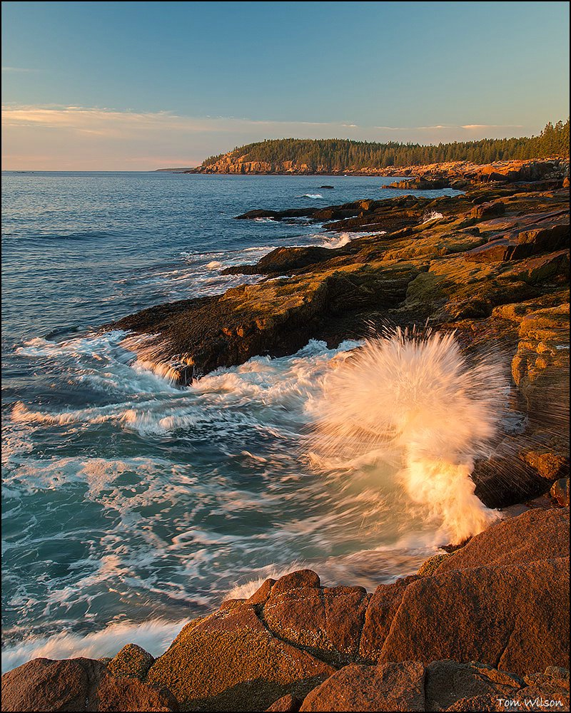 Exploding Wave and Maine Coast