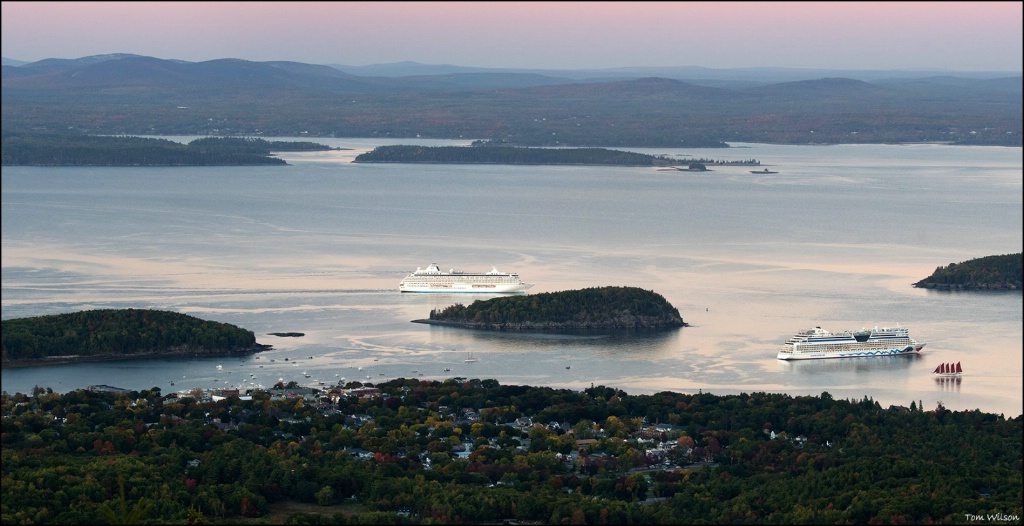 Cruise Ships among the Porcupine Islands