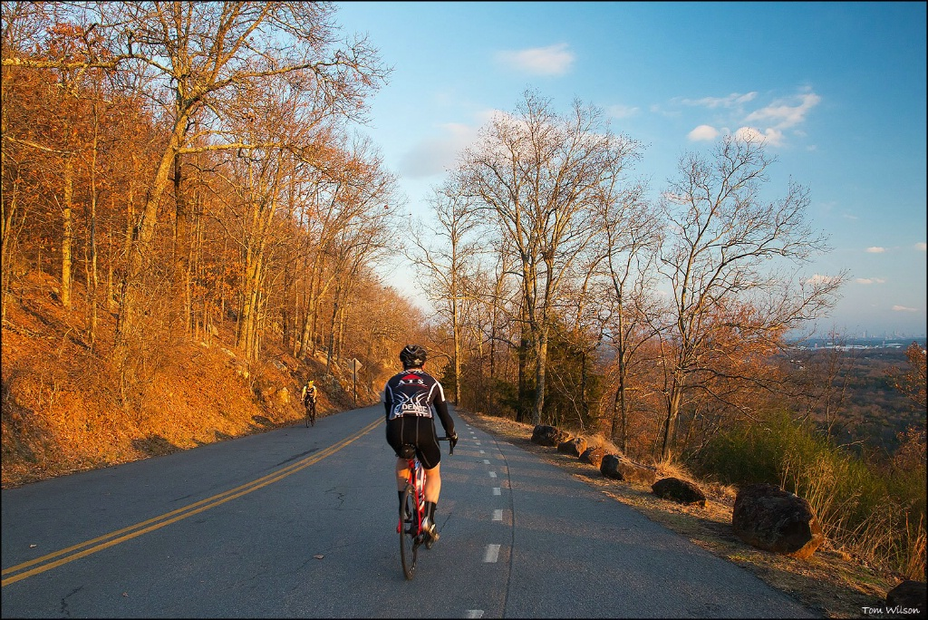 Bikers Asending and Descending Kennesaw Mountain