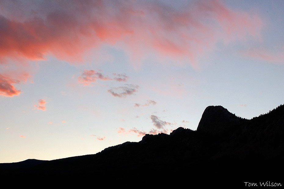 Tooth of Time after Sunset
