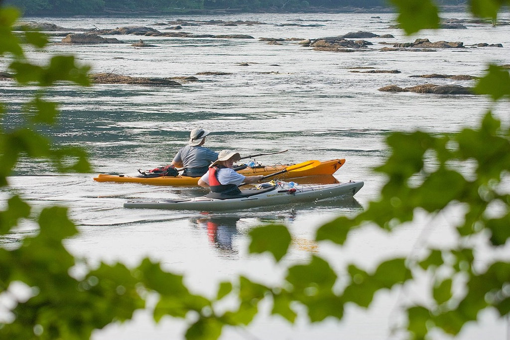 Two Kayakers at Thornton Shoals