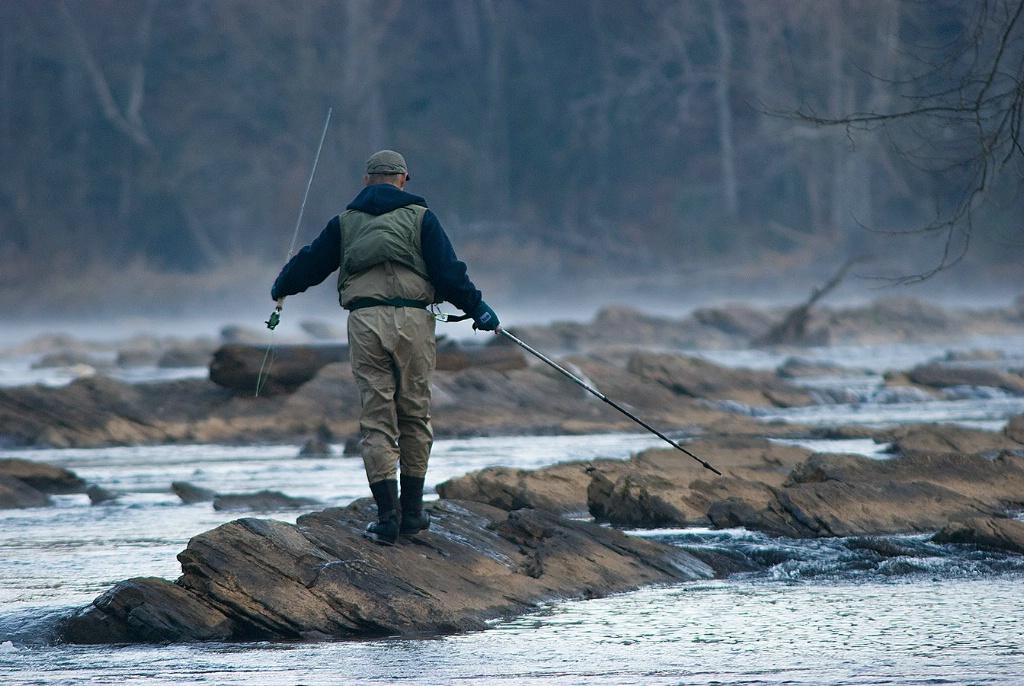 Fisherman at Palisades