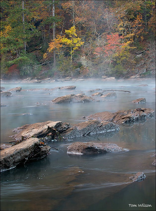 River Rocks and Fall Color