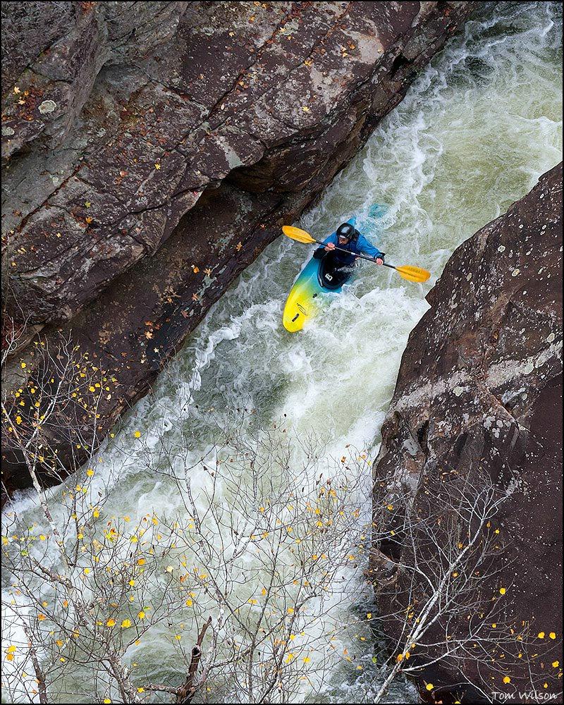 Kayaker in Tallulah Gorge