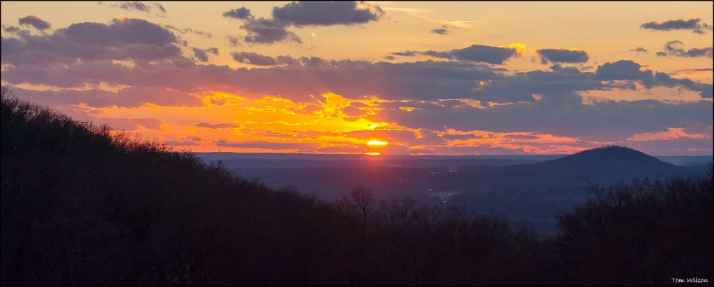 Sunset with Little Kennesaw and Lost Mountains