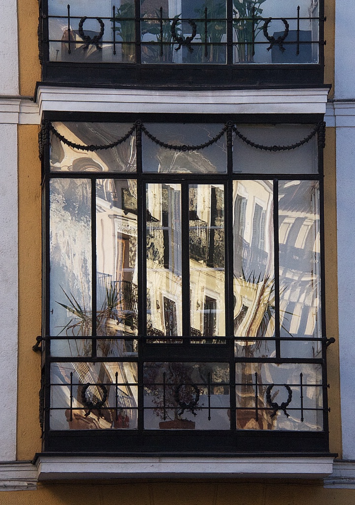 Reflection in a Madrid Balcony 3