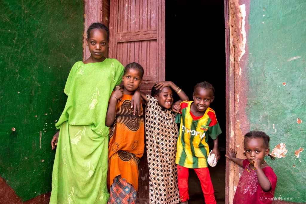 Ethiopian Children Group Portrait