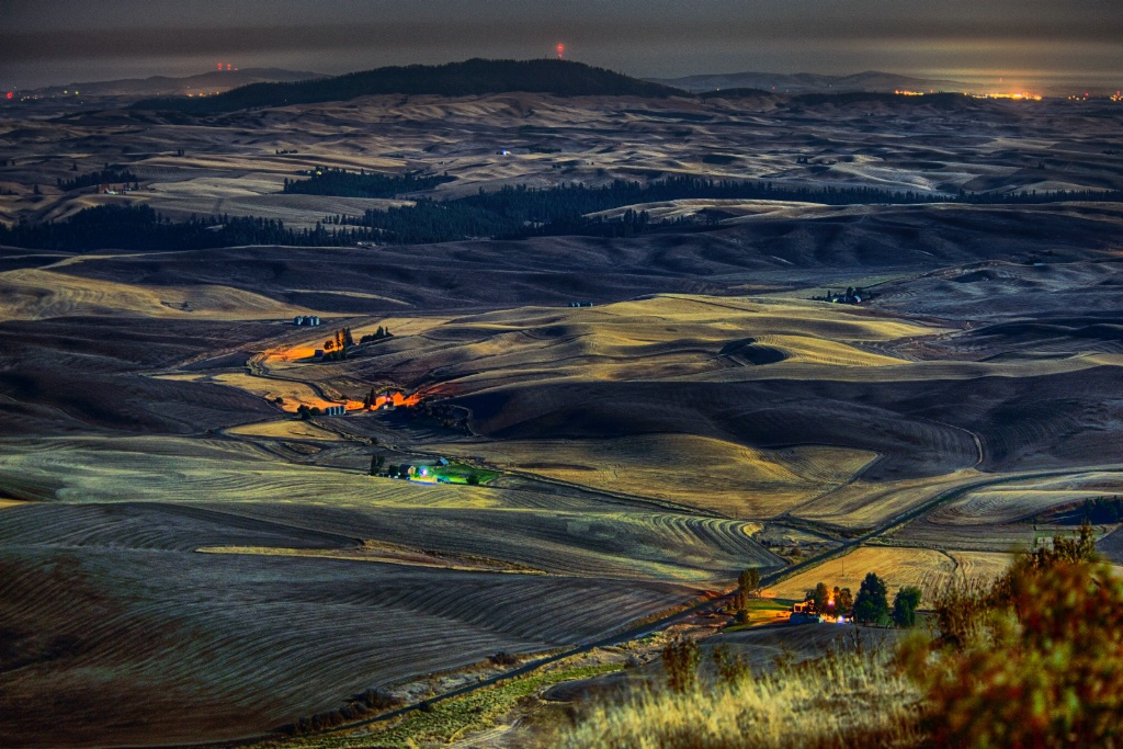 Palouse By Full Moon