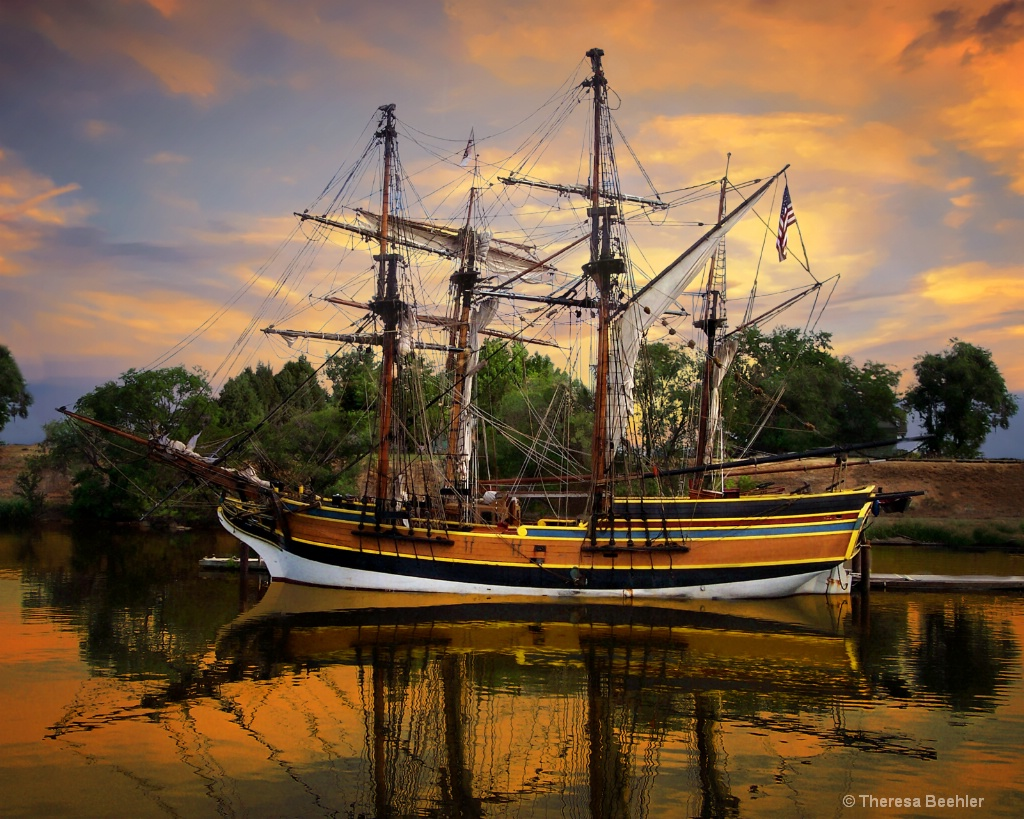 Burst of Sunrise - Lady Washington Tall Ship