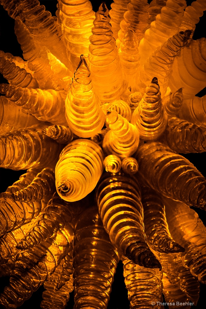 Touch of Gold - blown glass