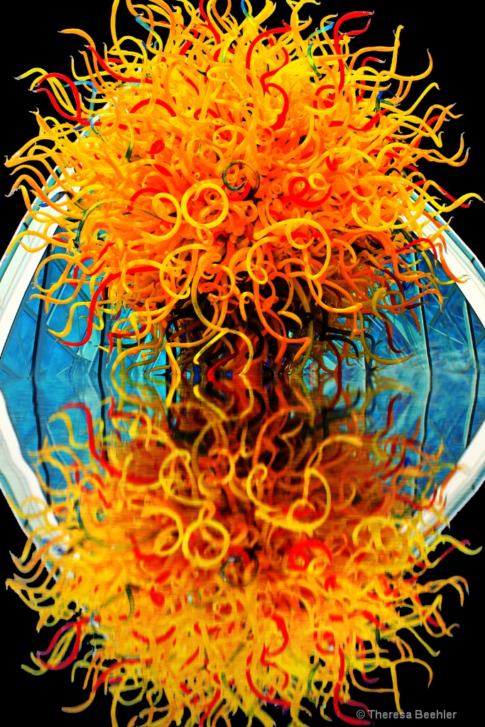 Reflection of Genius - Einstein and Chihuly