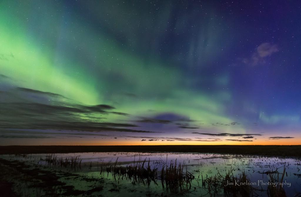 Aurora at Dawn, Saskatchewan April 4th 2017