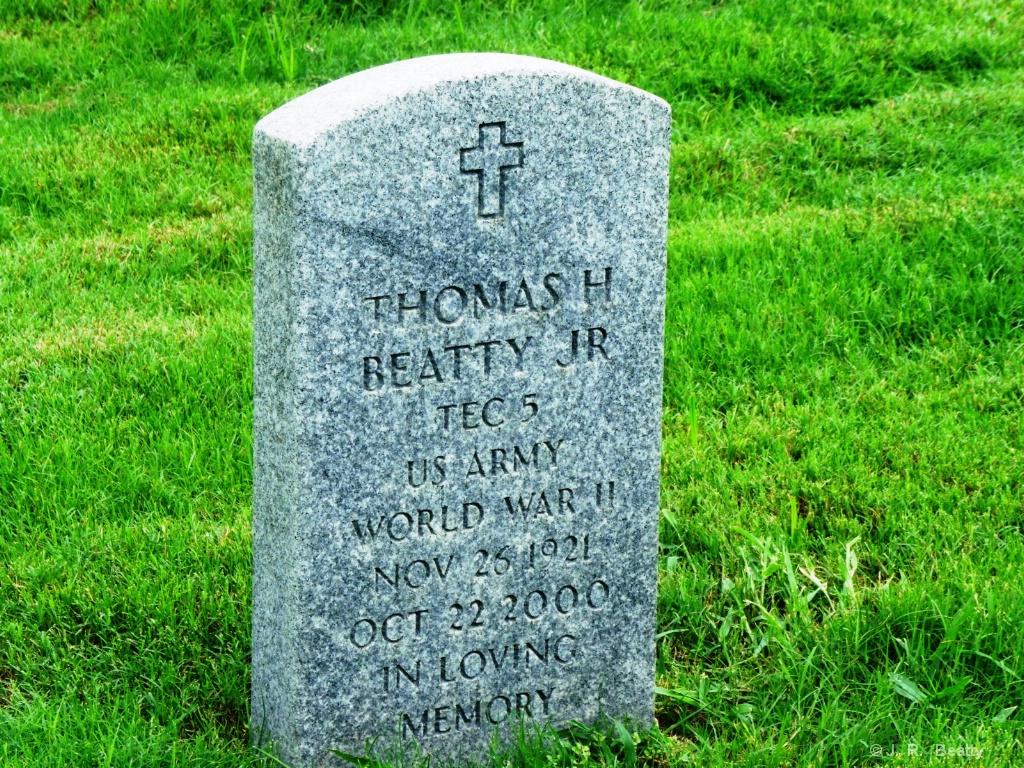 Dad's Military Memorial Headstone