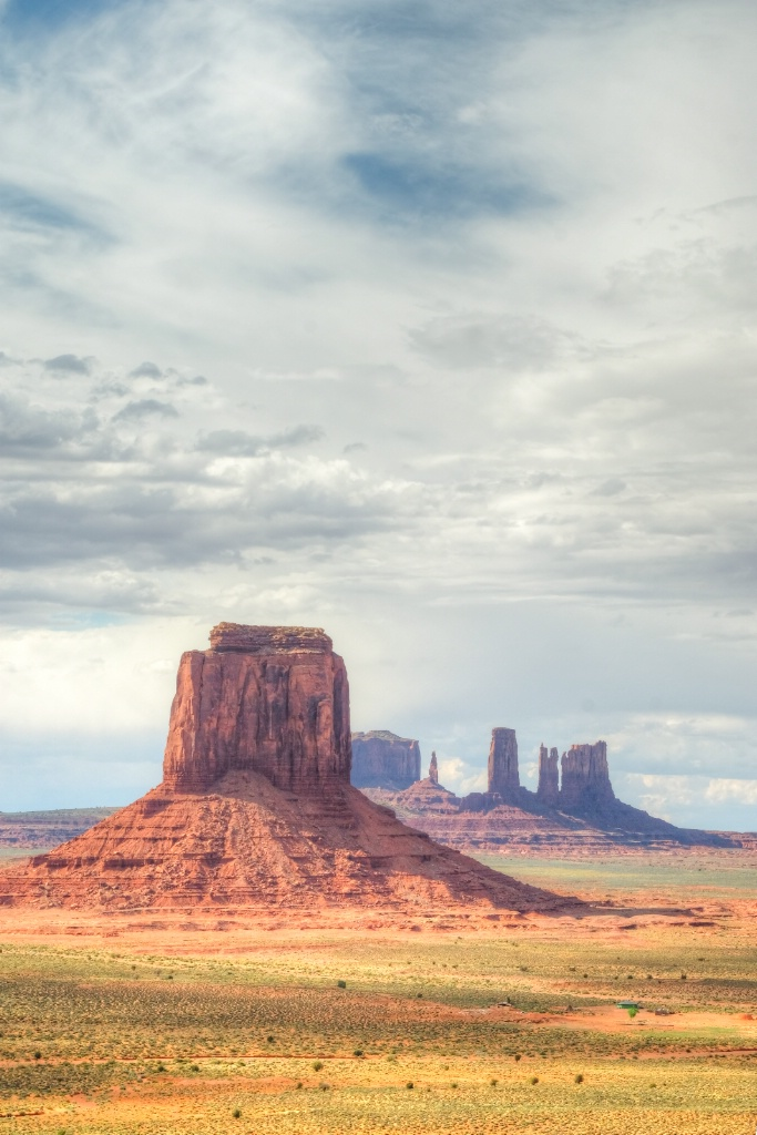 Artist Point after rain, Monument Valley