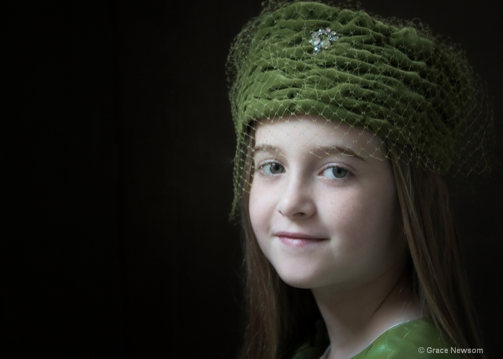 Girl in a Green Hat