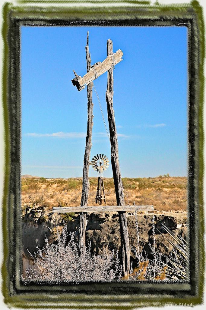 Framed Windmill