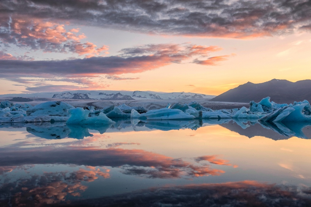 Vatnajokull Glacier at Daybreak